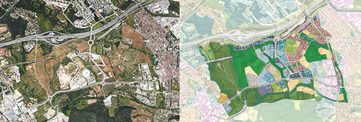 Vista aèria de la Plana i la Planificació urbanística